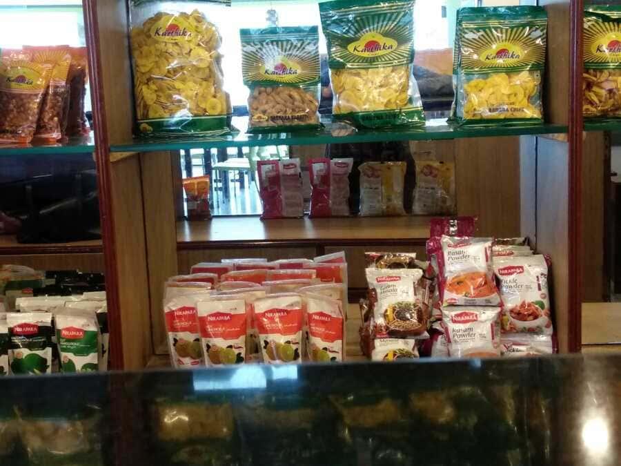 shillong vegetarian food thali rice dall banana chips southern taste food