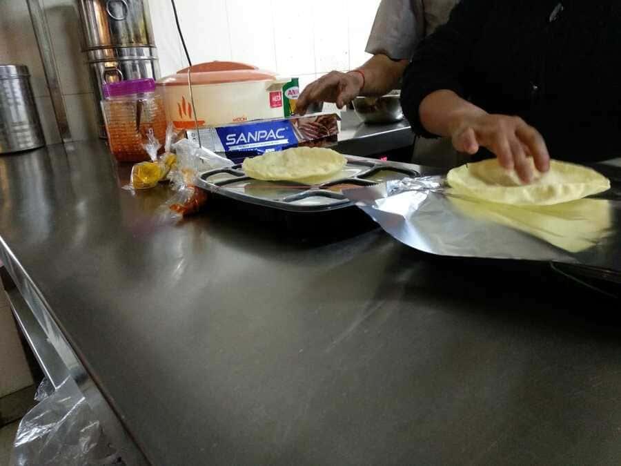 shillong vegetarian food thali rice dall banana chips southern taste kitchen