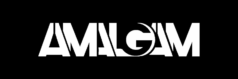 amalgam logo white